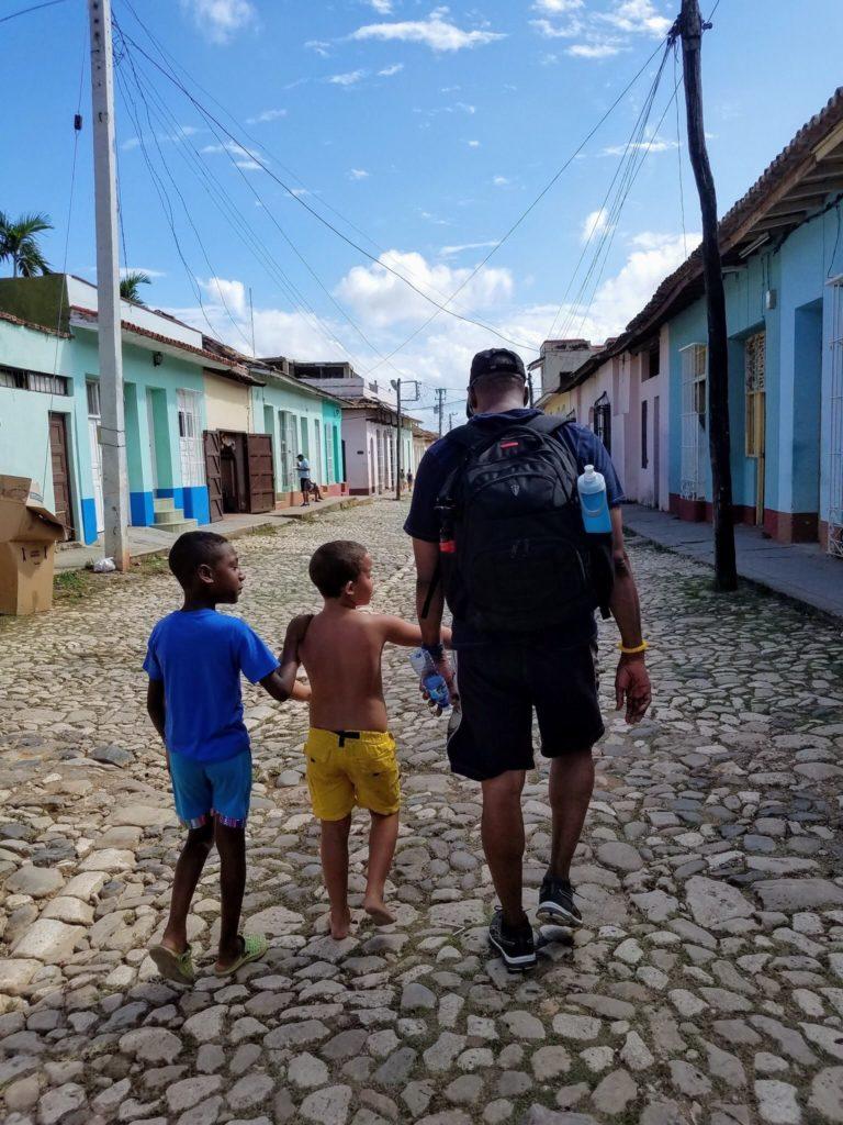 On a street in trinidad cuba