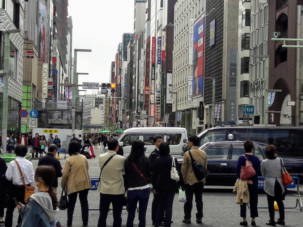 A street crossing in Tokyo
