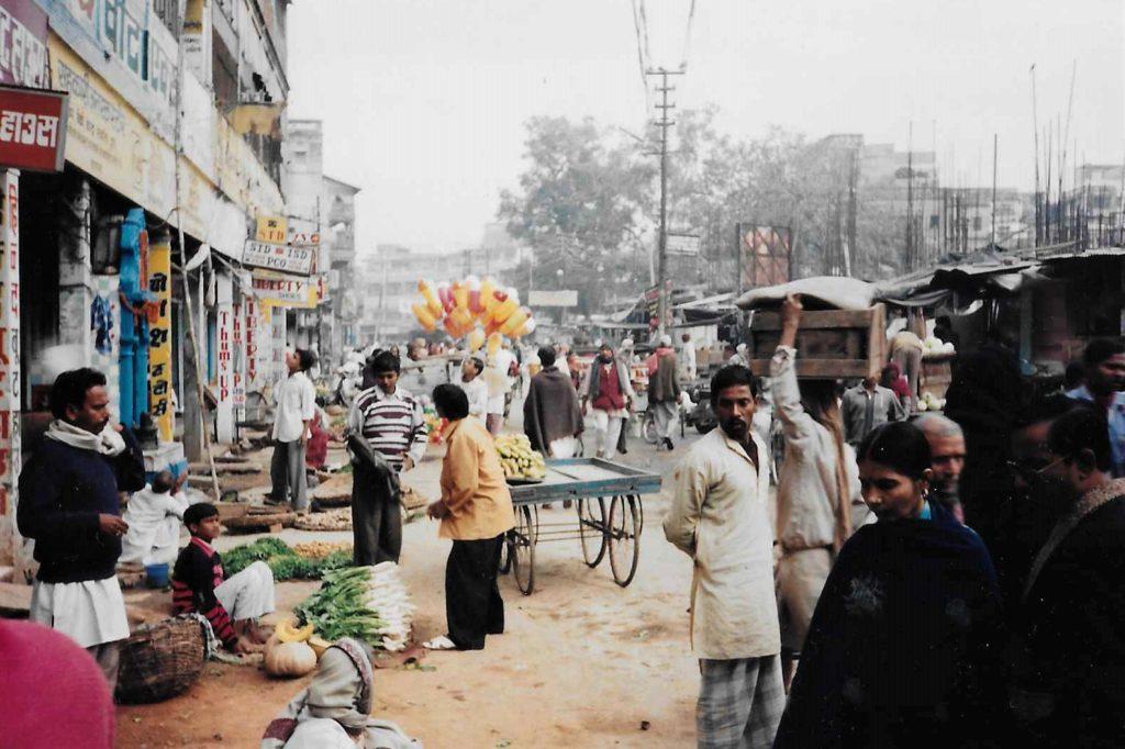 A street in varanasi India 1997