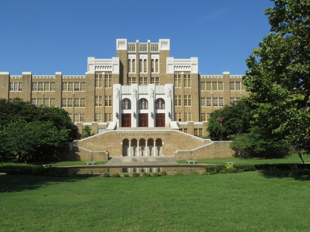 Central High school Little Rock Ark