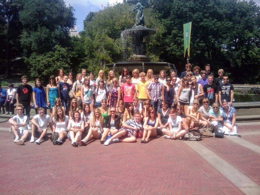 one of my tour groups at bethesda fountain central park nyc