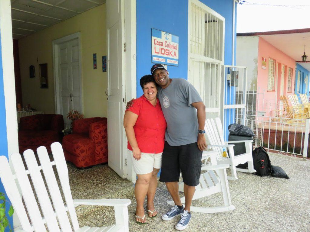 Me and Senora Lioska Vinales Cuba