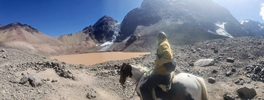 On the horse in the Andes Chile