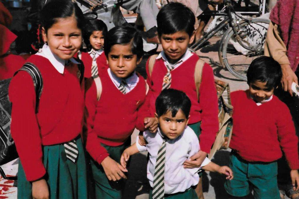 School children in Varanasi India 1997