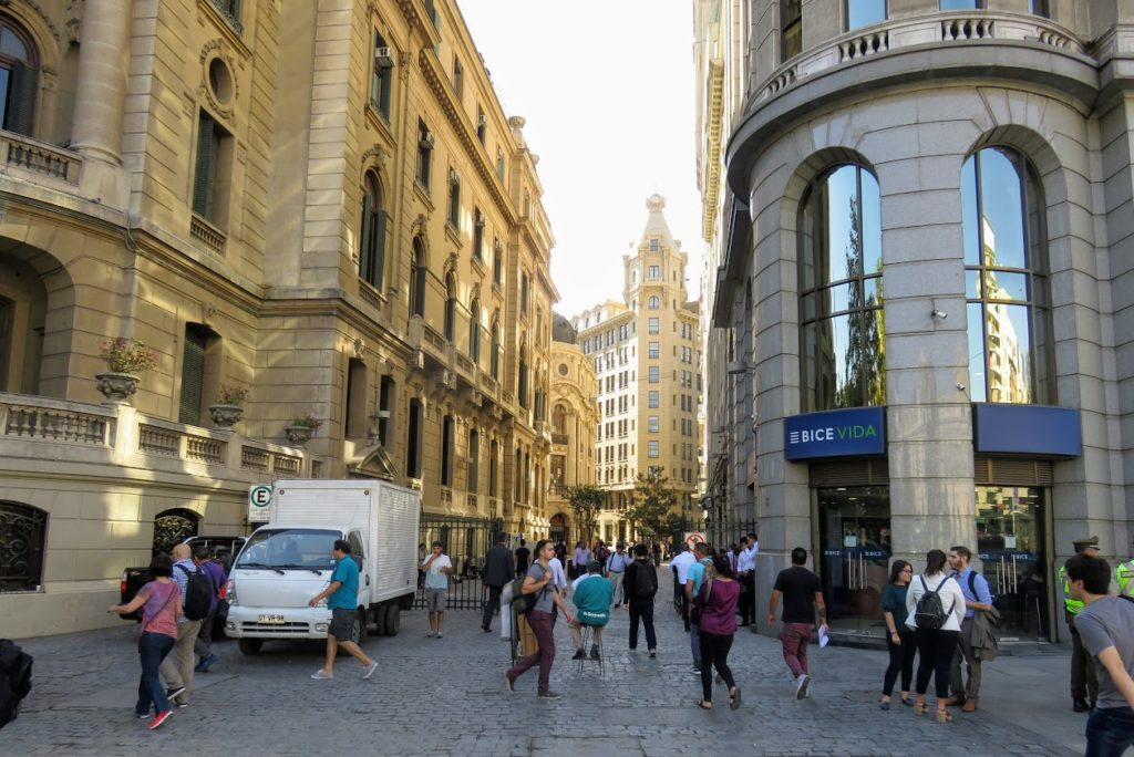 street in Santiago Chile