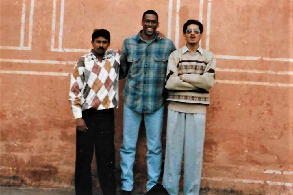 Three fashion plates in Jaipur India 1997