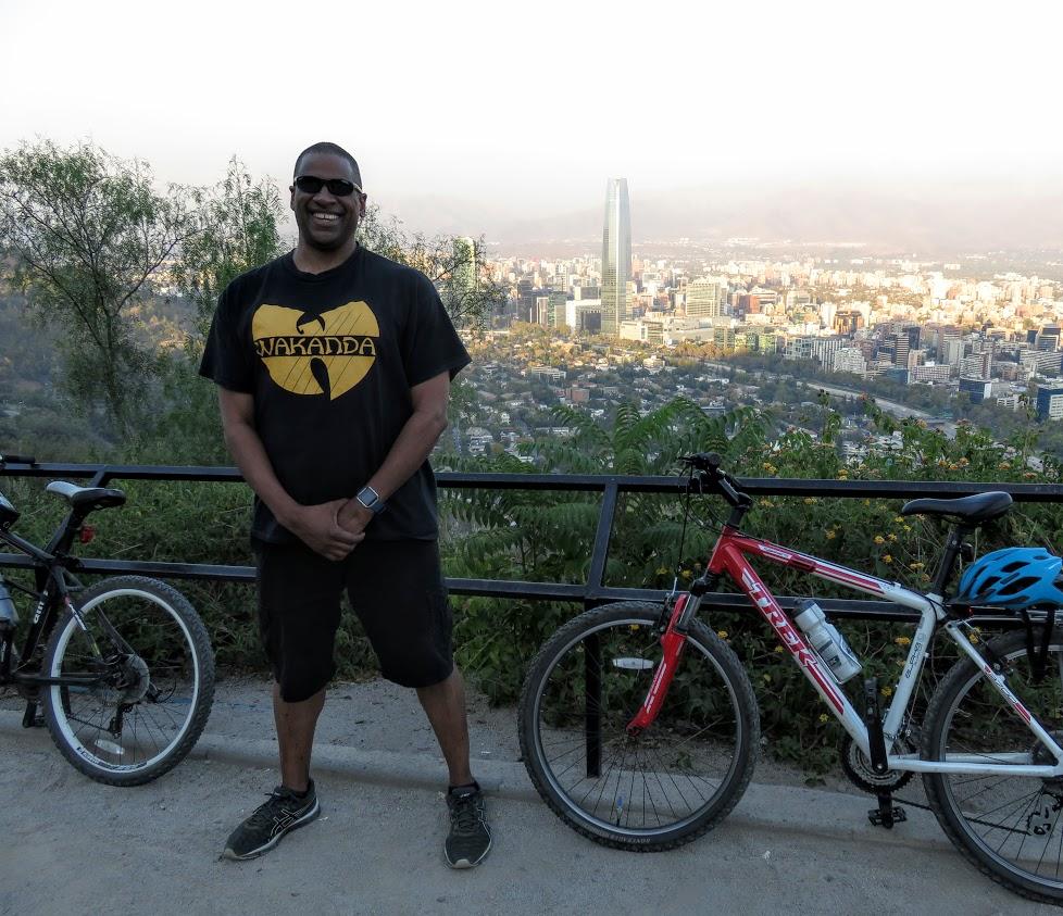 view from San Cristobal hill Santiago bike tour