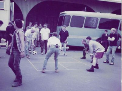 wicked game of four square on the set of a soldiers sweetheart auckland NZ keifer s