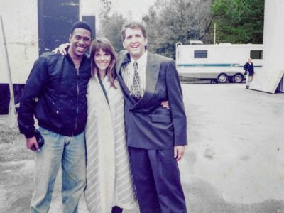 actors CB Carol H and Daniel R on the set of Matlock DeLaurentis Studios Wilmington NC 1995